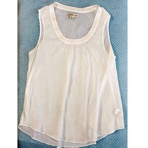 Coldwater Creek white sheer top sleeveless size PM